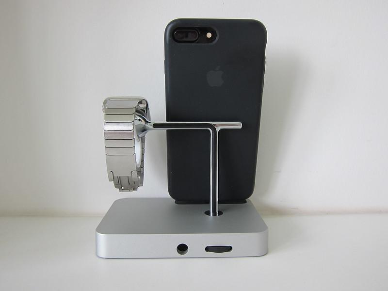 Belkin Valet - With iPhone & Apple Watch - Back