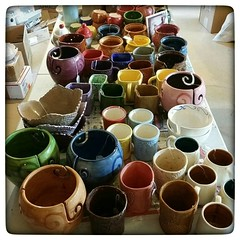 Much color; such wow! (I'm working on checking in all the ceramics that came back from the Florida Fiber-In....!). #ceramics