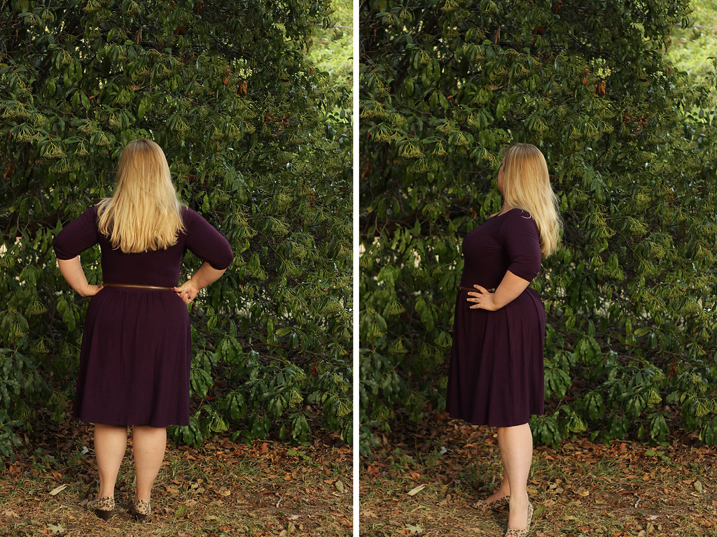 Plum Bamboo Jersey - Colette Moneta - Idle Fancy- side and back