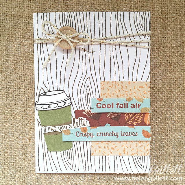 Cool Fall Air - Fall Coffee Lovers Blog Hop 2015 | A card made with Treats of Friendship, WOTG Pathfinding Cardmaking kit, and Pathfinding paper packet from CTMH | http://helengullett.com/?p=7502 | #coffeelovingcardmakers #coffeeloversbloghop #fallclh #treatsoffriendship #fall #autum #ctmh #closetomyheart #cardmaking #handmadecard #diy #papercrafting #stamping #ctmhpathfinding #ctmhtreatsoffriendship