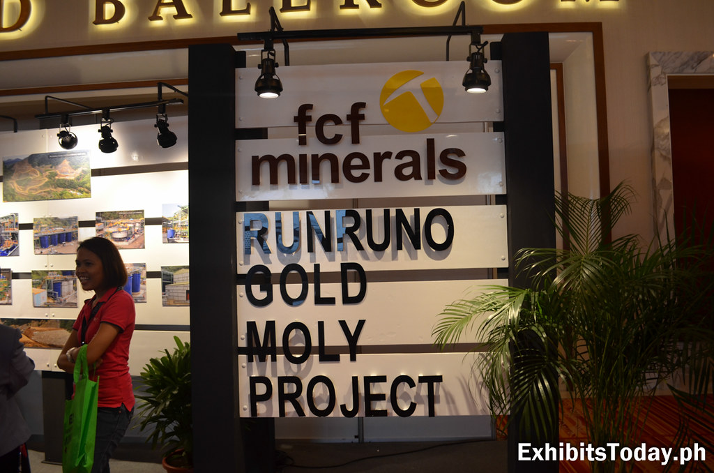 FCF Minerals Corporation tradeshow display