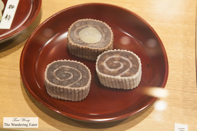 Red bean paste wagashi