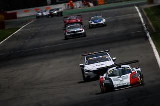 NGMsport Mosler exits La Source at Spa Francorchamps.