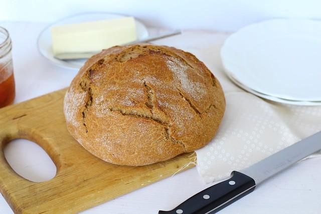 Whole Wheat Dutch Oven Bread