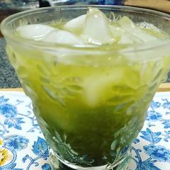 matcha tea soda♡  #matcha #teasoda #抹茶ティーソダー #japan