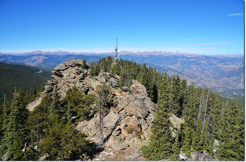 View to northwest from the middle summit 2