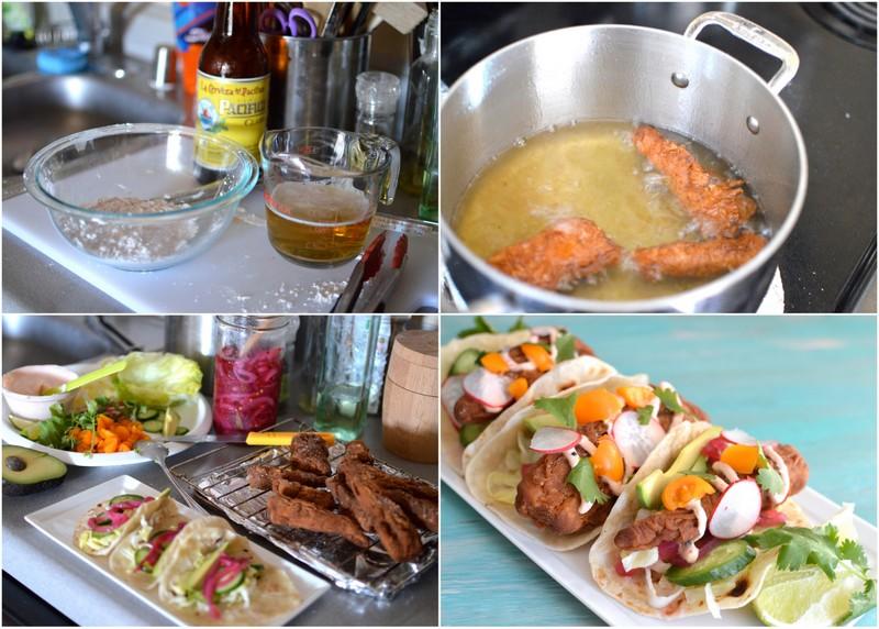Beer Battered Fish Tacos