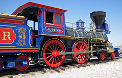 Replica of Central Pacific Railroad # 60 steam locomotive (4-4-0) (Golden Spike National Historic Site, Utah, USA) 3