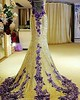 Gold & purple beaded evening gowns | #fashion #dresses #couture #womensfashion #dragqueens #pageants #evening  #TagsForLikes @TagsForLikes #instagood #follow #photooftheday #followme #tagsforlikes #beautiful #nice #love #happy #picoftheday #instadaily #sw