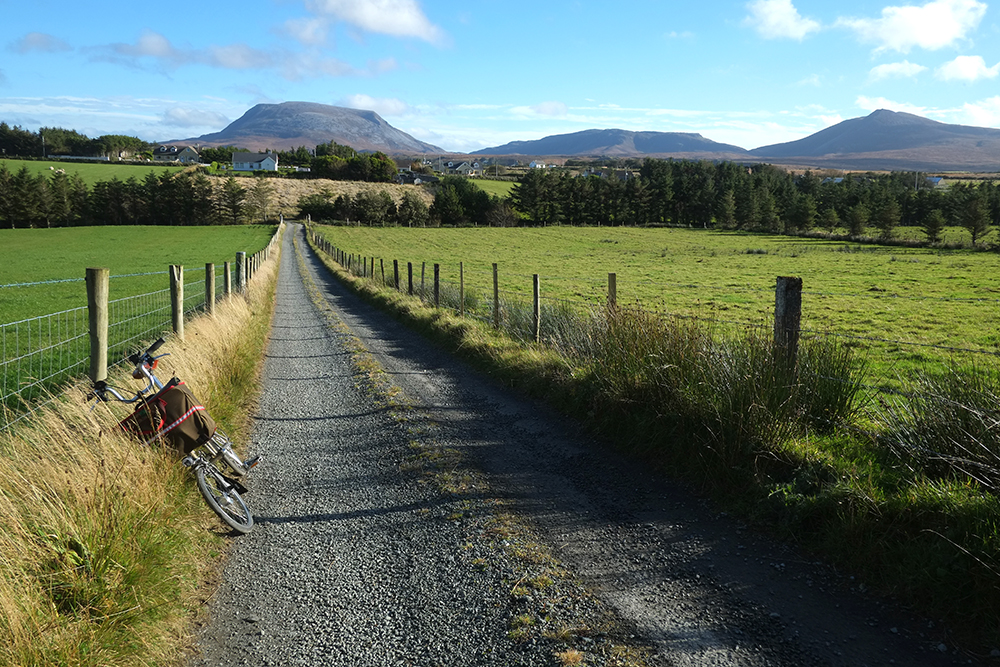Dirt Road with View of Muckish Mountain