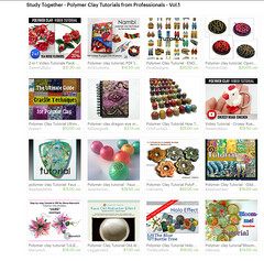 polymer clay Tutorials Etsy Treasury