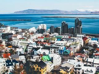 Rooftops in Reykjavik