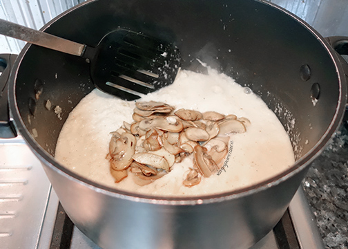 06 Add Sauted Mushrooms
