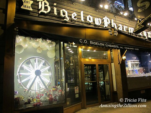 Holiday Windows at Bigelow Pharmacy