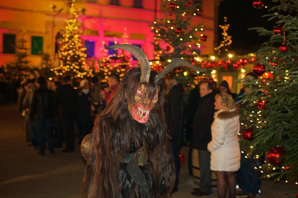 Krampus at the Schloß Helbrunn Christmas Market