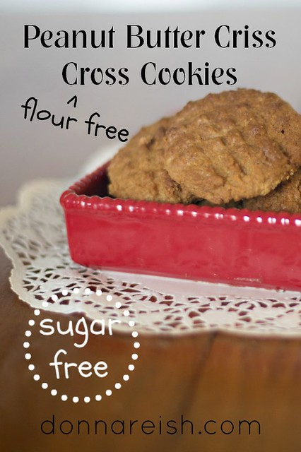 Peanut Butter Criss Cross Cookies [Sugar Free & Flour Free]2