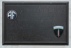 Photo of Dwight D. Eisenhower bronze plaque