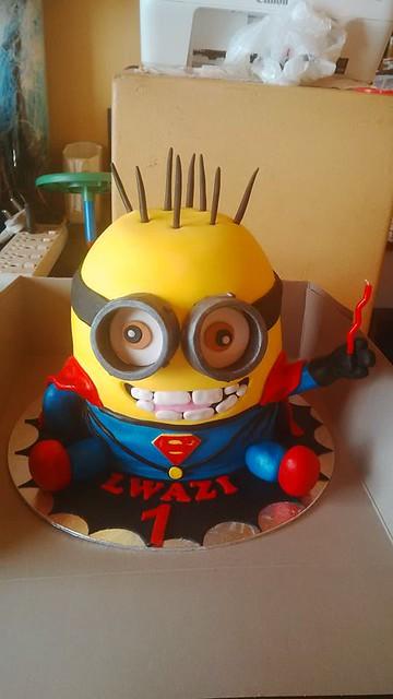 Super Minion Cake by Kayla Boylan of Kayla's Bake's