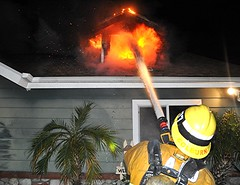 LAFD Holds Fire to Attic of Sun Valley Home