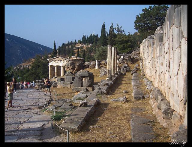 Grecia Delfos Osios Lukas Kalambaka - Templo de los Atenienses