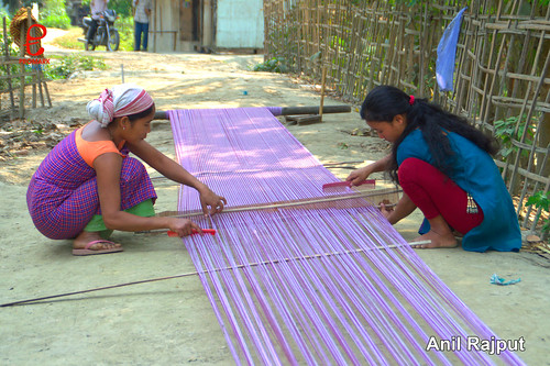 Tribe weavers at Majuli Island