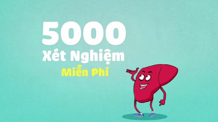 5000 xét nghiệm chẩn đoán viêm gan virus C sẽ được cung cấp hoàn toàn miễn phí