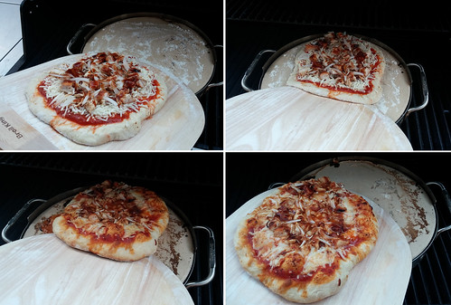 Placing and Removing Pizza on the Broil King Imperial™ Pizza Stone Grill Set