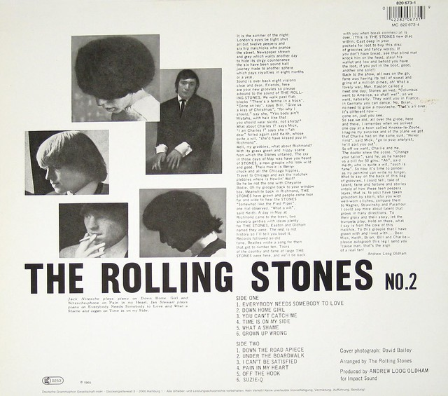 "ROLLING STONES NO 2 / VOL 2 12"" VINYL LP"