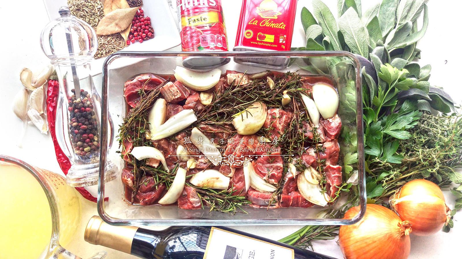 孤身廚房-香草使用不手軟!我的招牌香料燉牛肉5