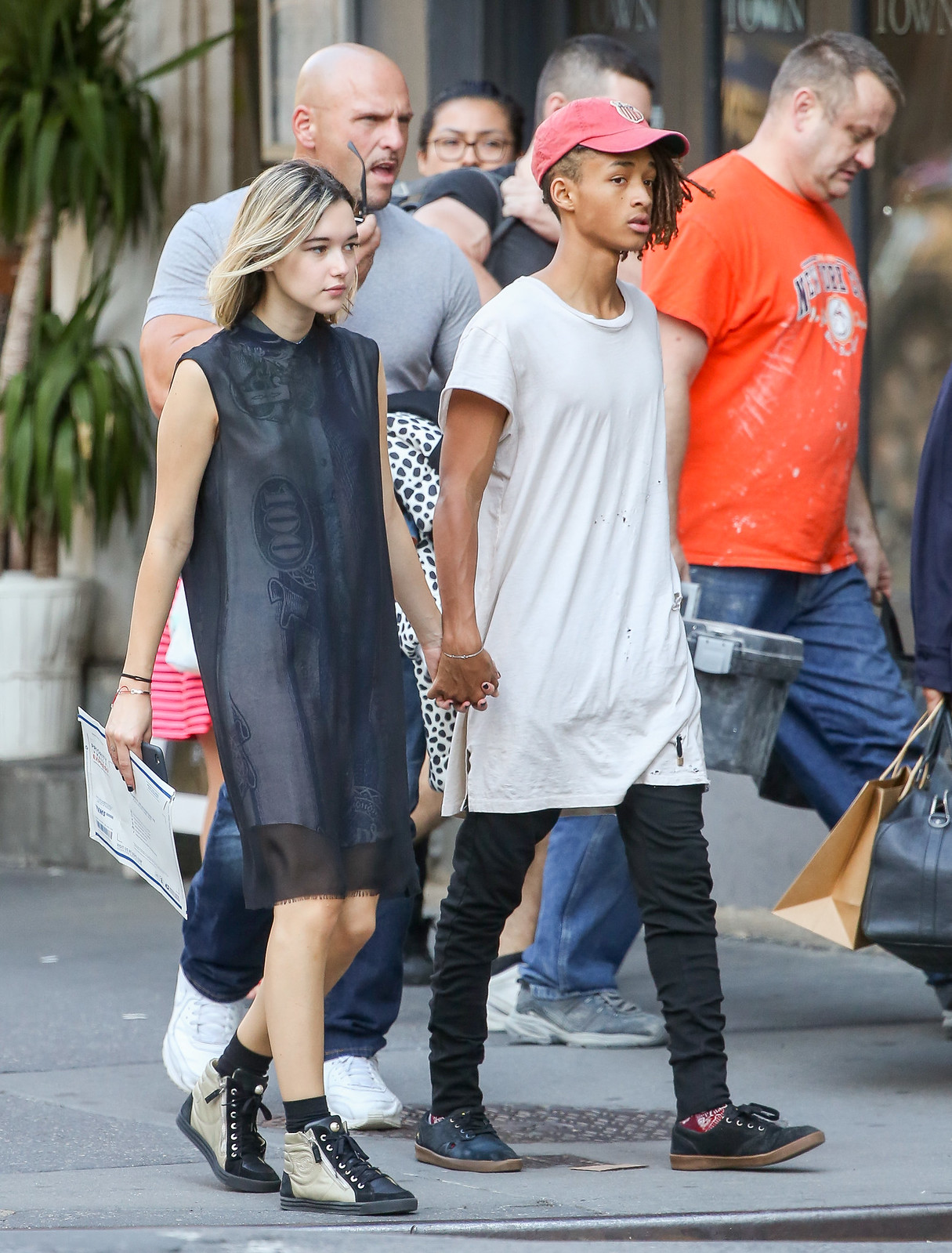 Jaden Smith and girlfriend spotted out in NYC 9/15/15