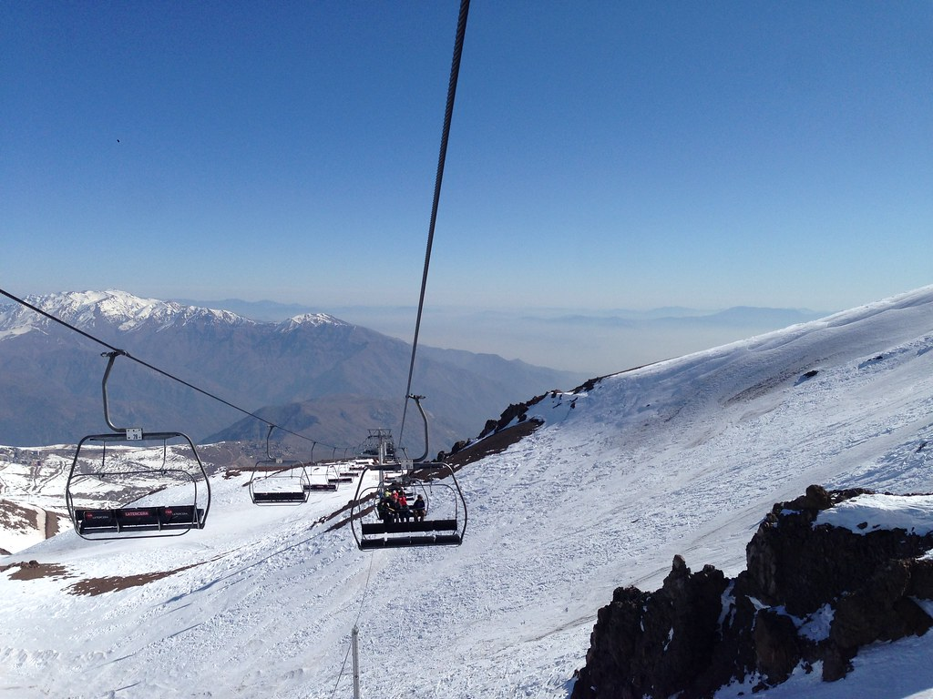 On the Las Aguilas chairlift