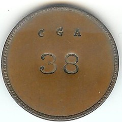 Civil War Token ILL 150-bA-1a obverse