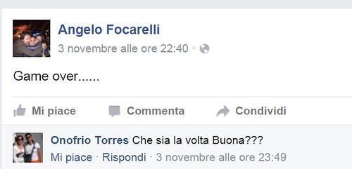 Uno dei post recenti di Angelo Focarelli su Facebook