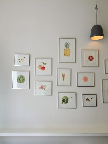 Copenhagen Østerberg Ice Cream counter and watercolour fruit paintings