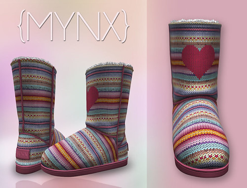 {MYNX} Bootie - Heart Stripes