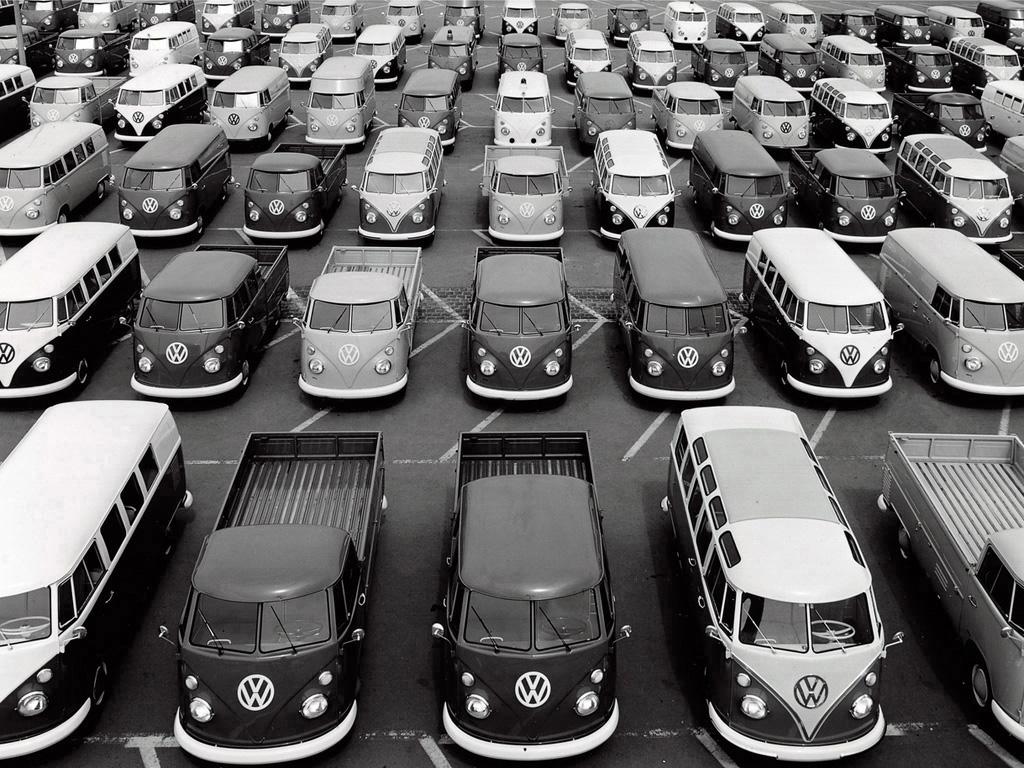 Разные варианты платформы Volkswagen T1