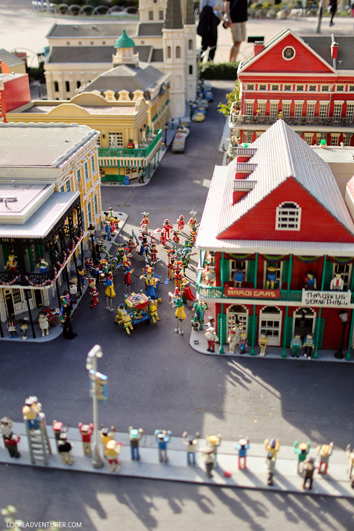 Lego New Orleans Louisiana - Around the World Tour at Legoland California.