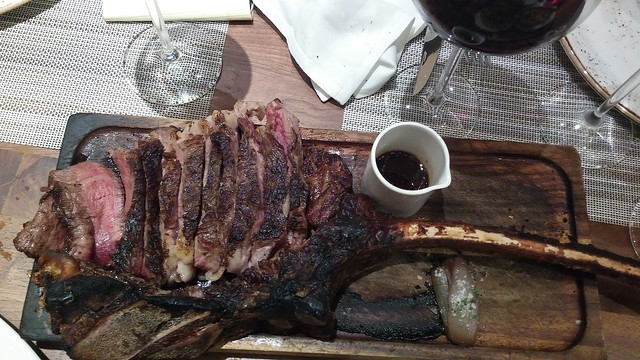 Tomahawk Ribeye at ARIO, Marco Island Marriott. photo credit: SouthFloridaFoodandWine.com