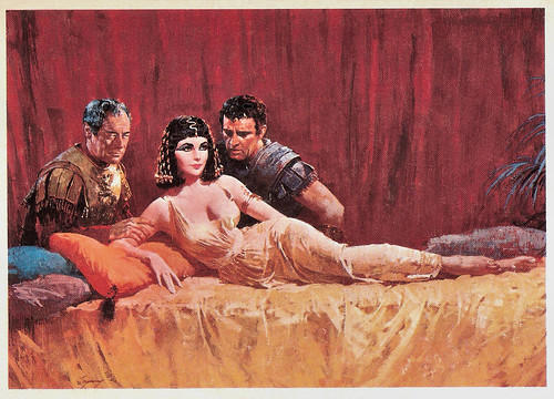 Rex Harrison, Elizabeth Taylor, Richard Burton in Cleopatra (1963)