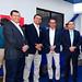 Francisco Bravo, de ABB; Reinaldo Acevedo, de Eecol; Marco Marini, de ABB, y Cristian Jacobsen, de Phoenix Contact