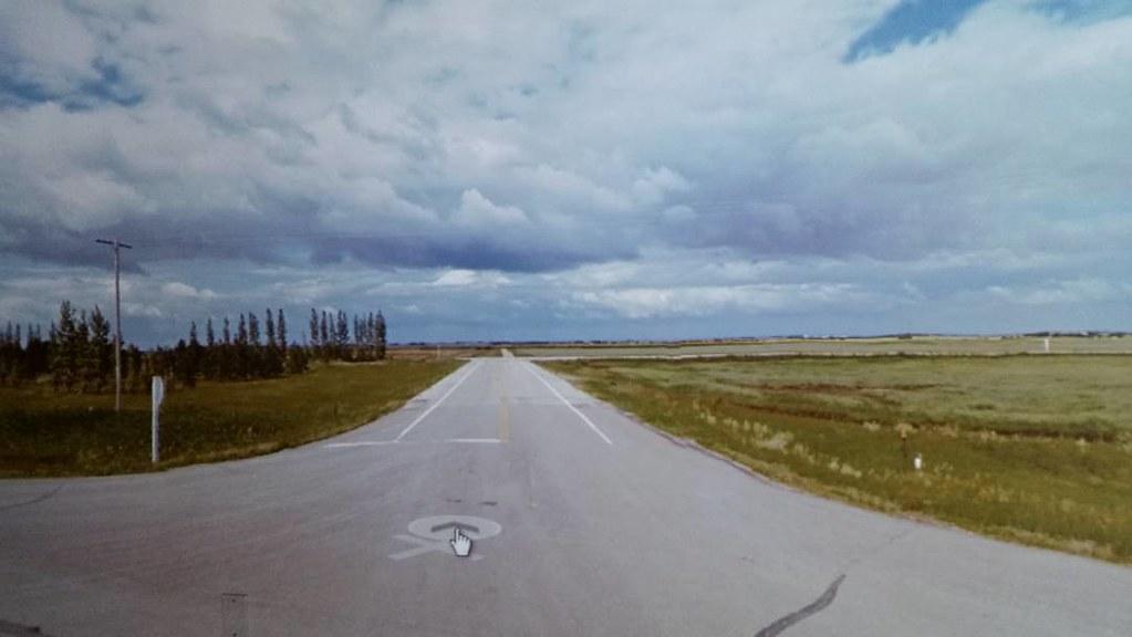 ... and now take in the wonder of August in the Prairies. 2009. #ridingthroughwalls #xcanadabikeride #googlestreetview #saskatchewan