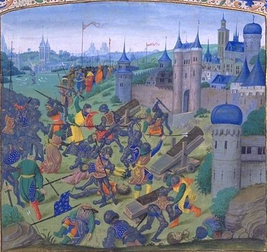 Battle of Nicopolis from Froissart`s Chronicles