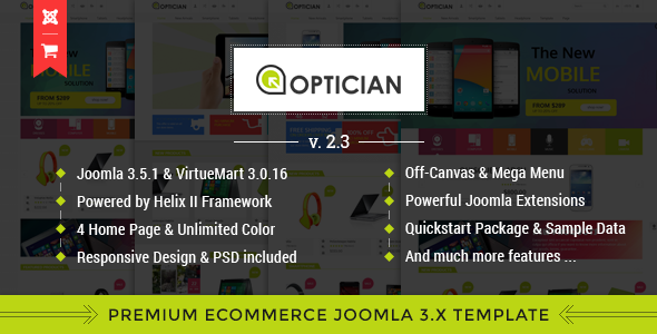 Vina Optician v2.3 - Premium eCommerce Joomla Template