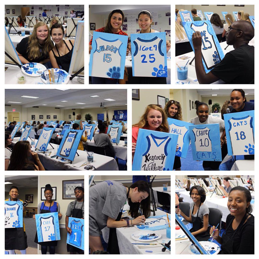 Last night Wildcats tested their creative talents at @uksab's Painting and Mocktails. We think there may be some Picassos in the bunch! #KWeek