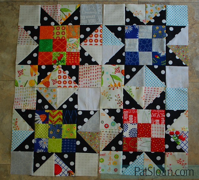 Pat Sloan Scrap Happy Little Wishes challenge 4 blocks