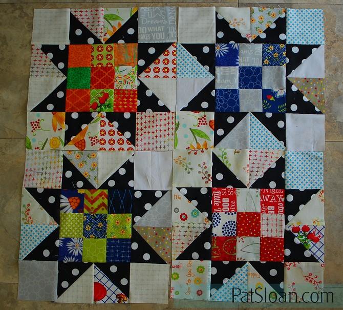 Pat Sloan Scrap Happy Little Wishes challenge 4 blocks