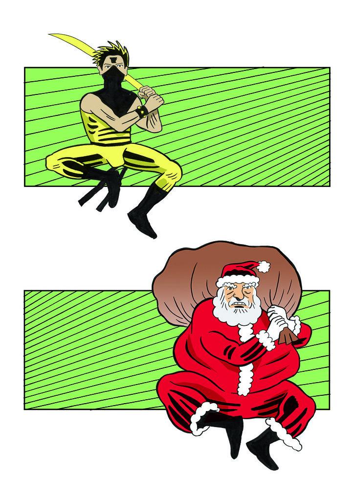 neon-vs-santa