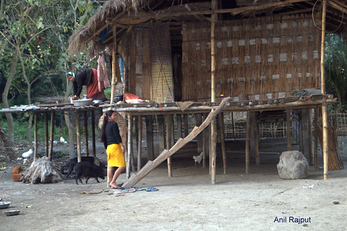 Mishing village family home, Majuli Island