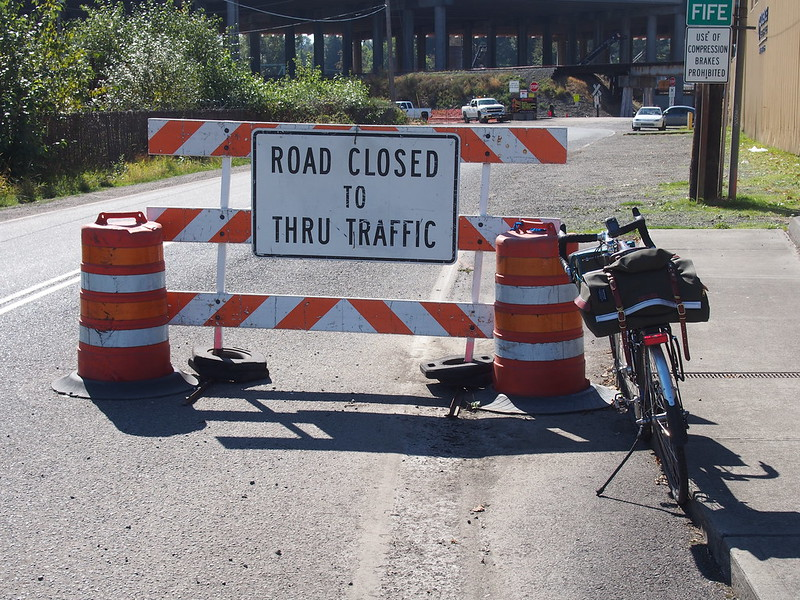 20th Street Closure: It forced me to take a different route through Fife.