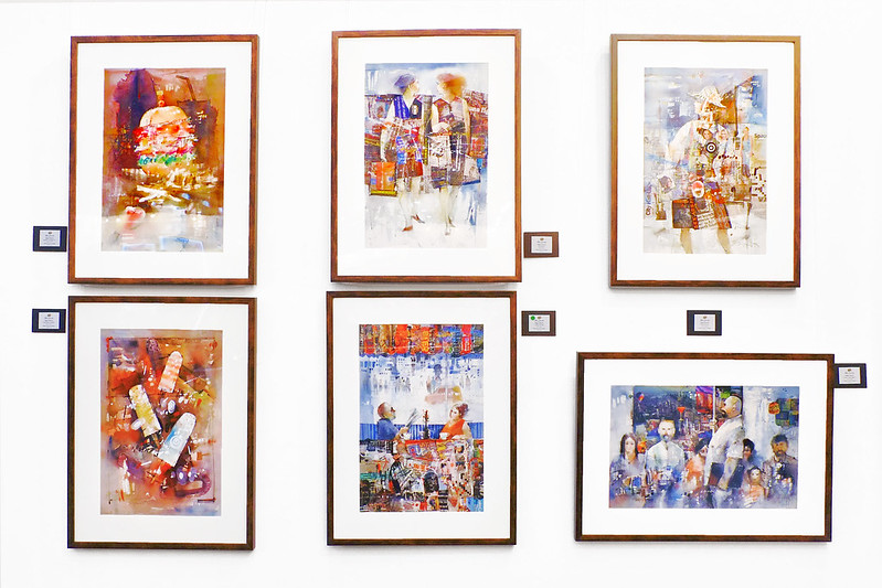 Sundae Scoops Manilart 2015 Watercolor Collages by Edgar Doctor from Artes Orientes